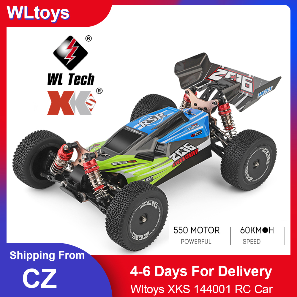 Wltoys XKS 144001 RC Car 60km/h High Speed 1/14 2.4GHz RC Buggy 4WD Racing Off-Road Drift Car RTR Toys Kid 1