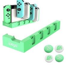 Cargador para Nintendo Switch Joy Con controladores, estación Base de carga para Nintendo Switch Joy Con soporte de indicador para 4 Joy Cons