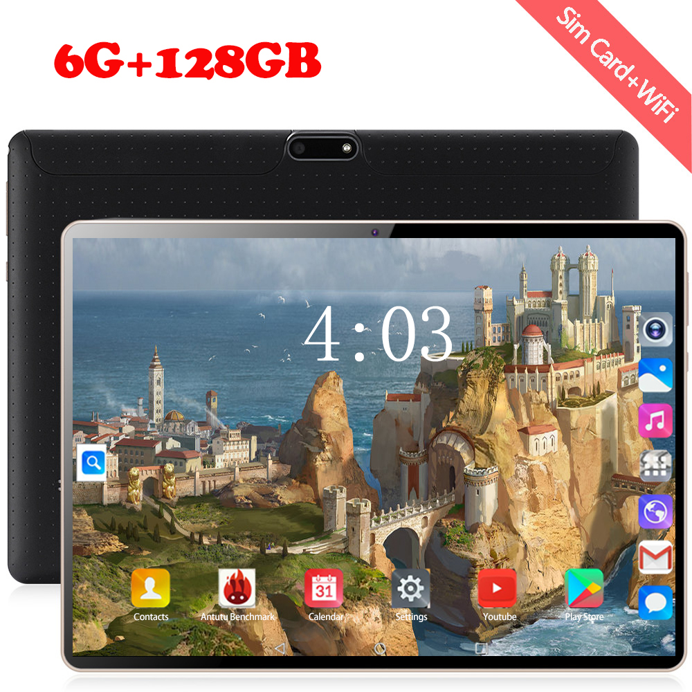 1920*1200 IPS 10 Inch Tablet PC 10 Core Android 8.0 RAM 6GB ROM 128GB Dual SIM Card 4G Phone Tablets 2.4 WIFI Bluetooth  Tablets