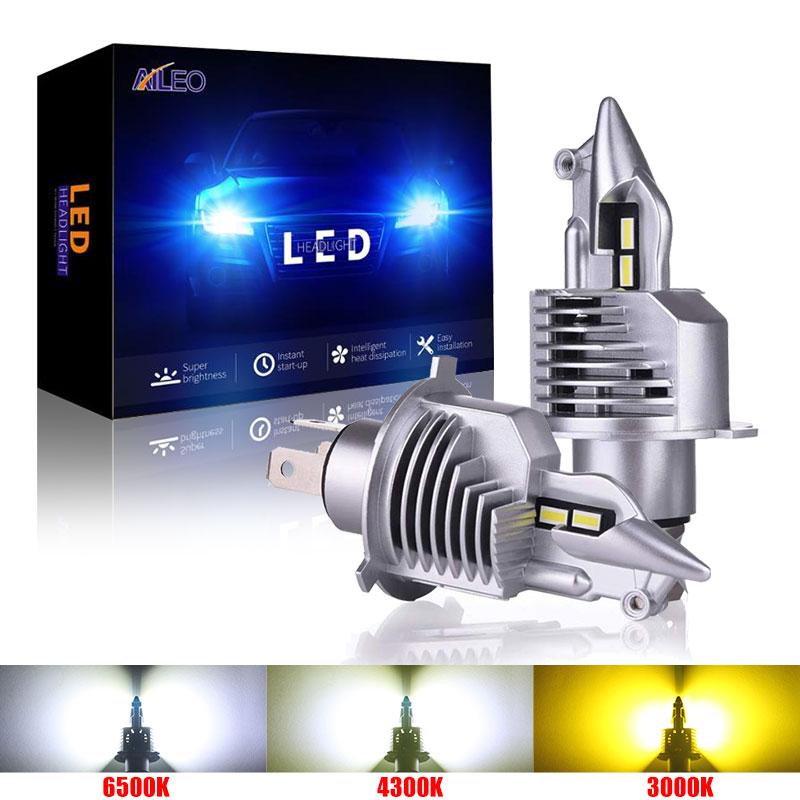 Автомобильная лампа AILEO Fighter H4 Led 9003 HB2, 72 Вт, 12 В, 24 В, 6000 К, 4300 К, 3000 К