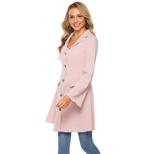 Spring Autumn Women Trench V Neck Flare Sleeve Coats Solid Color Turn Down Collar A Line Single Breasted Outerwear Female