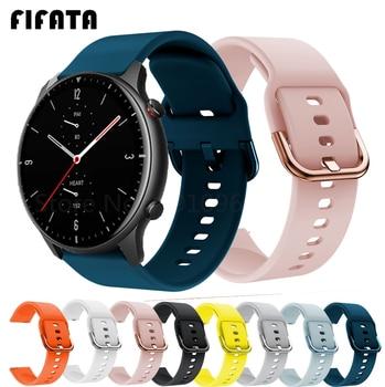 FIFATA Smart Watch Band For Amazfit GTR 2 Silicone Wrist Strap For Xiaomi Huami Amazfit GTR 42 47mm GTR2 GTS2 Bip U/S Bracelet 1