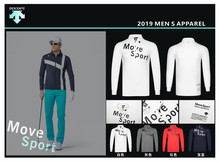Q2019 Men  DESCENTE Long Sleeve T-Shirt Golf T-shirt 3colors clothes S-XXL in choice Leisure shirt Free shipping