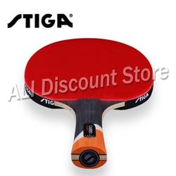 Карбоновые теннисные ракетки STIGA 6 STARS, профессиональные ракетки из пупырчатой резины для активной игры в пинг-понг