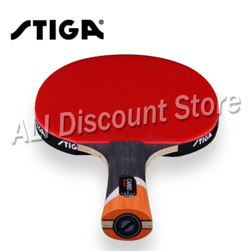 Raqueta de tenis STIGA profesional de carbono 6 estrellas, raqueta de tenis de mesa para raquetas ofendidas, raqueta deportiva, raqueta de Ping Pong, granos en