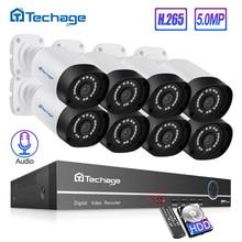 8CH 5MP Poe Nvr Kit H.265 Cctv Security System IP66 Outdoor Waterdichte Ip Camera Bewegingsdetectie P2P Video Surveillance Set 2 Tb Hd