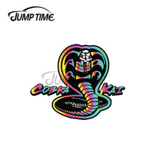 Jumptime 13x7.5cm para cópia de cobra kai personalidade criativa adesivos de carro vinil material decalque acessórios do carro decoração