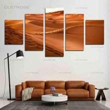 5 шт красивые красные пустыни в сумерках картины холст hd печать