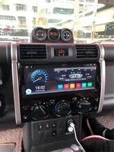 Samochód styl Tesla ekran dotykowy Radio Stereo GPS 2 din Android 10 dla Toyota Land cruiser FJ 2007-2017 samochodowy sprzęt Audio odtwarzacz multimedialny