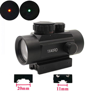 1X40 Tactical Holographic Red Green Dot Rifle scope Sight For 11mm/20mm Mount Optical Sight Scope Red Dot Scope
