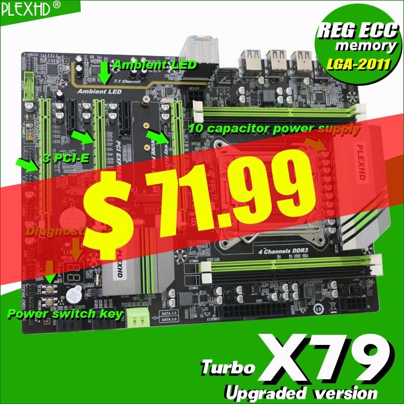 PLEXHD SSD Memory Turbo E5-Processor Xeon USB3.0 Sata3 Pci-E ATX X79 Support REG ECC