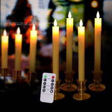 Candle-Light Decor. Party-Supplies Remote-Control Pillar Home Wireless for 1-Pair Led