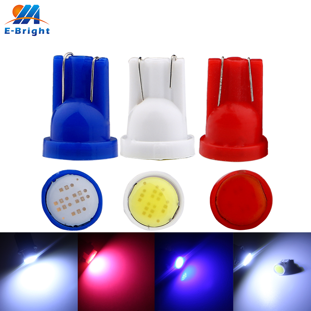 2PC LED White Bright COB Canbus Side Lamp 6W T10 W5W 194 168 Wedge Light Bulb
