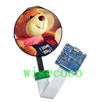 5 inch round screen 1080*1080 TOP050MIPI10801080R lcd display HDMI MIPI controller board diy project