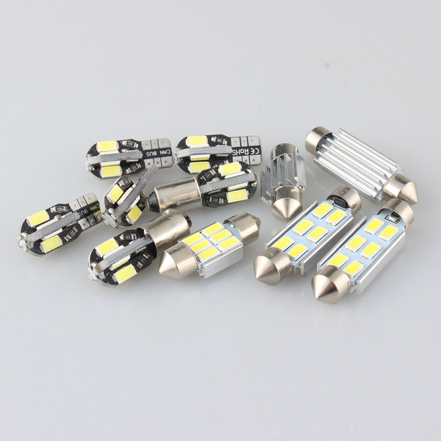9Pcs Canbus Error Free Car LED Light Bulb Lamp Interior Kit For 2014-2018 BMW i3 Glove Box Dome Map Light 2