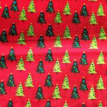 50*105cm Cotton Plain Weave Christmas Tree Fabric Patchwork Needlework DIY Handmade Cloth Dress Sewing Material Quilting Bedding(China)