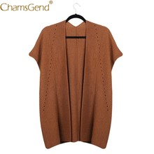 Fashion Lady Wool Blends Knitted Cardigan Coat Women Long Sweater Slouchy Woman Loose Jumper Solid Autumn Spring Clothing 9919(China)