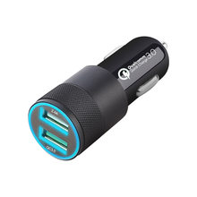 18w duplo usb carregador de carro led carregador de telefone de carregamento rápido para isqueiro iphone mini pro x xiaomi mi redmi huawei samsung