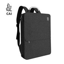 CAIกันน้ำ14นิ้วแล็ปท็อปกระเป๋าเป้สะพายหลังผู้ชายขนาดใหญ่ความจุกระเป๋าBack Packกระเป๋าเดินทางแฟชั่นสไตล์กระเป๋าถือ