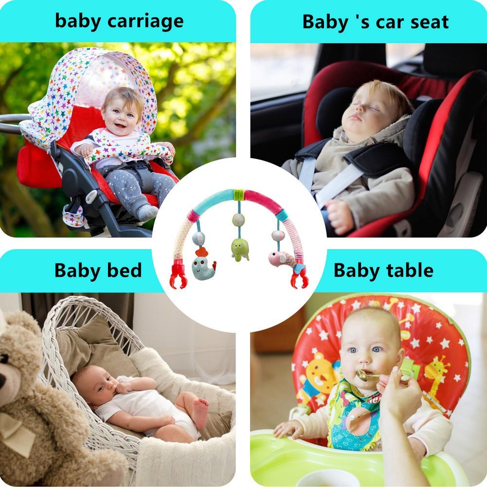 Chocalho de brinquedo para carrinho de bebê,