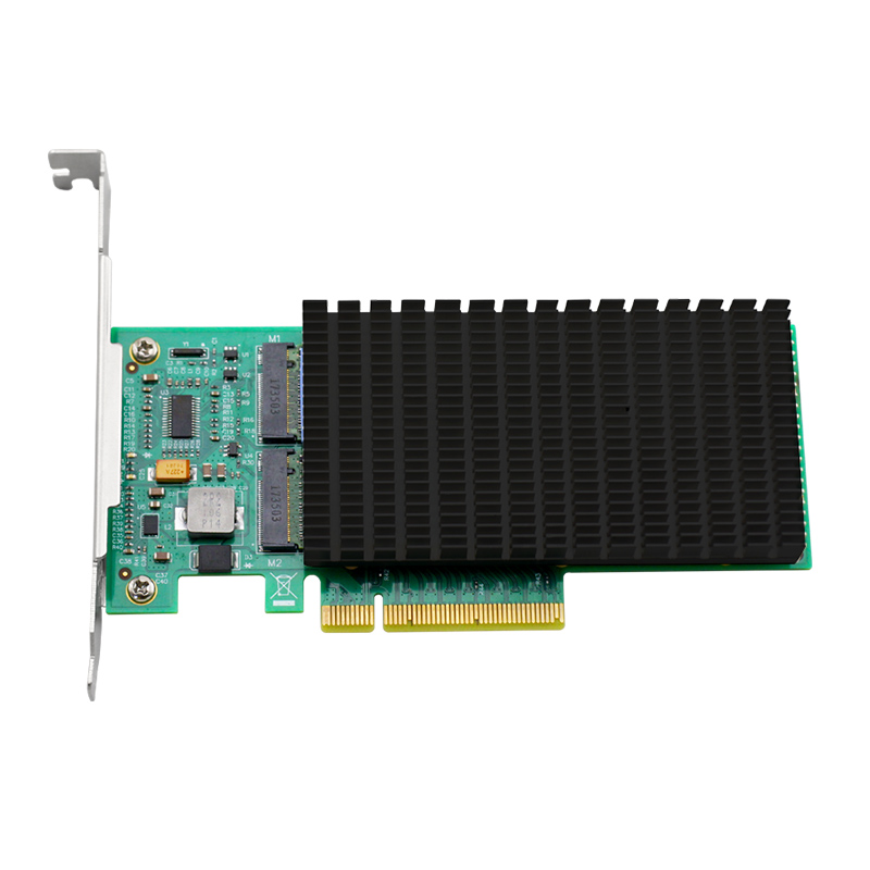 UNICACA ANM22PE08  NVMe Controller PCIe to M.2  Dualport  with headsink-in Add On Cards from Computer & Office