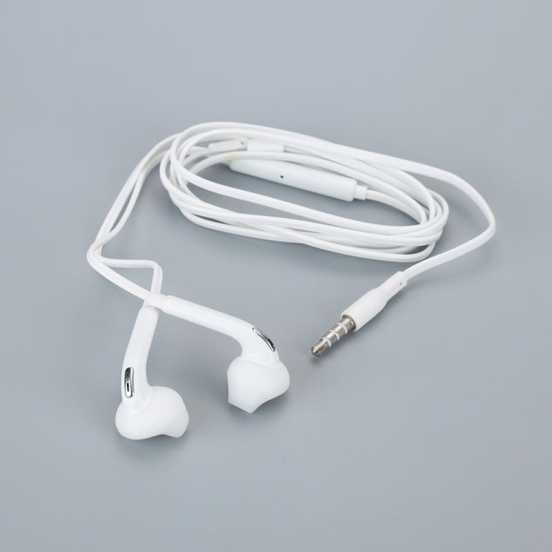 3.5mm Stereo Music Earphones Portable Earphone Wired In-Ear Headset No Bluetooth Microphone For Samsung S6 Galaxy S6 Edge TSLM2