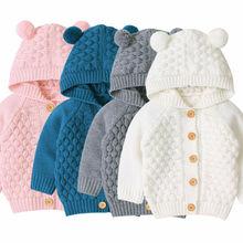 Baby Boys Girls Knit Cardigan Winter War