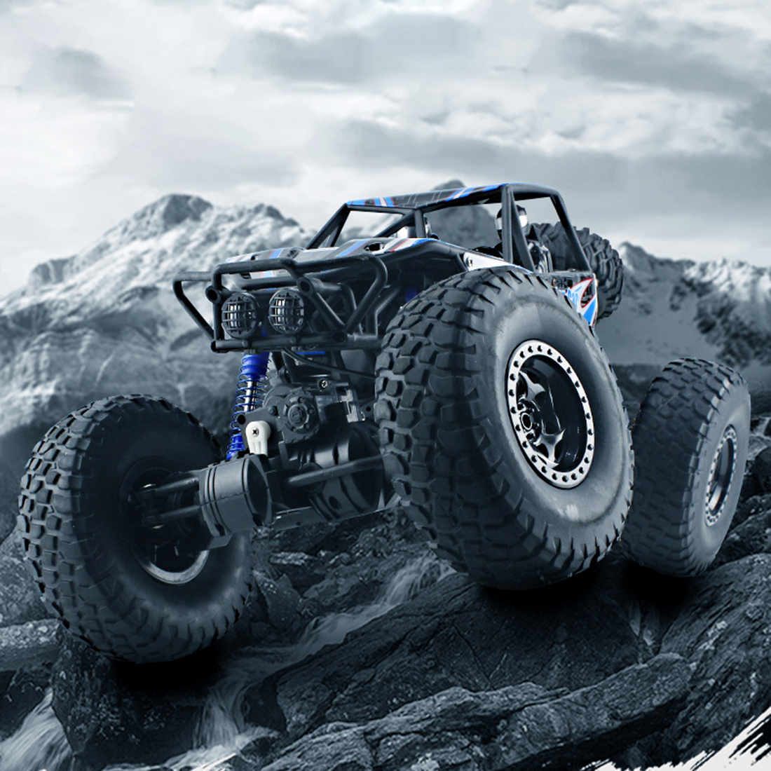 48cm 1:10 4WD 2.4G RC Monster Truck High Speed Racing Car Off Road Vehicle For Child School Play Education Birthday Gift Blue - 6