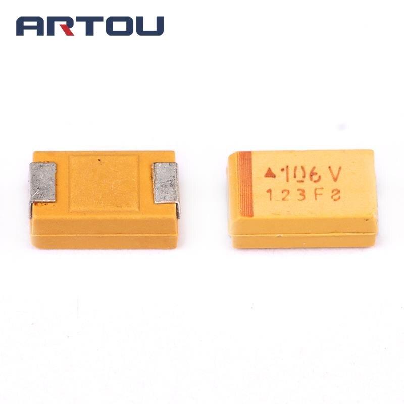 100Pcs Tantalum Capacitor DIP 35V10UF 10UF 35V 106 Radial