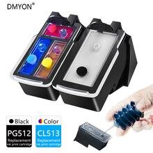 DMYON cartuchos de tinta recargables PG512 CL513, compatibles con Canon PG512, CL513, MP240, MP250, MP270, MP230, MP480, MX350, IP2700, P2702