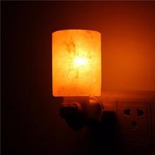 10pcs Elegant Crystal Light natural himalayan salt lamp led Lamp Indoor warm light table lamp bedroom Wall lamp Home lighting