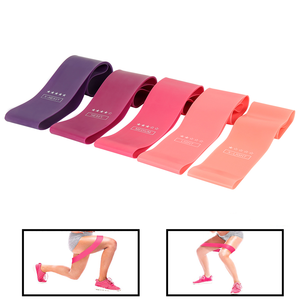 5pcs Resistance Bands Fitness Equipments For Home Gym Training  Elastic Rubber Resistance Bands Set Crossfit Workout Equipment