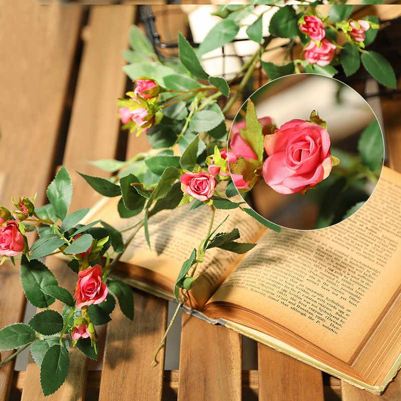 Xuanxiaotong 170 Centimetri di Seta Del Faux Rosa Della Vite Hanging Ghirlanda di Fiori per La Cerimonia Nuziale Festa a Casa Decorazione Del Giardino Falso Rose Del Fiore Del Rattan