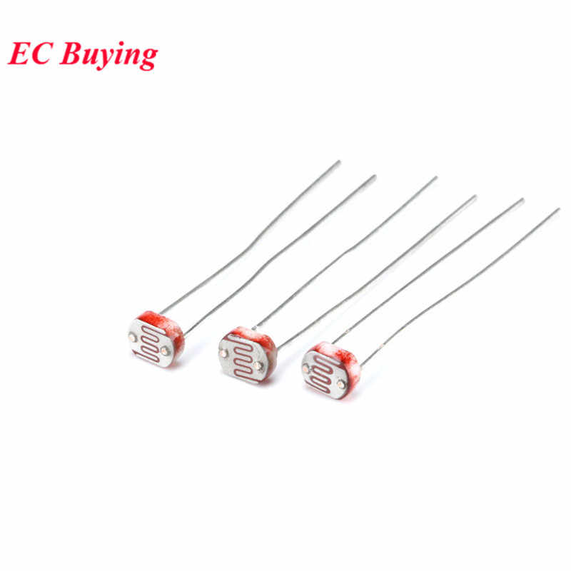 20 Pcs Ldr Photoresistor 5506 5516 5528 5537 5539 5549 Light Dependent Resistor 5 Mm Photoconductive Tahan UNTUK ARDUINO