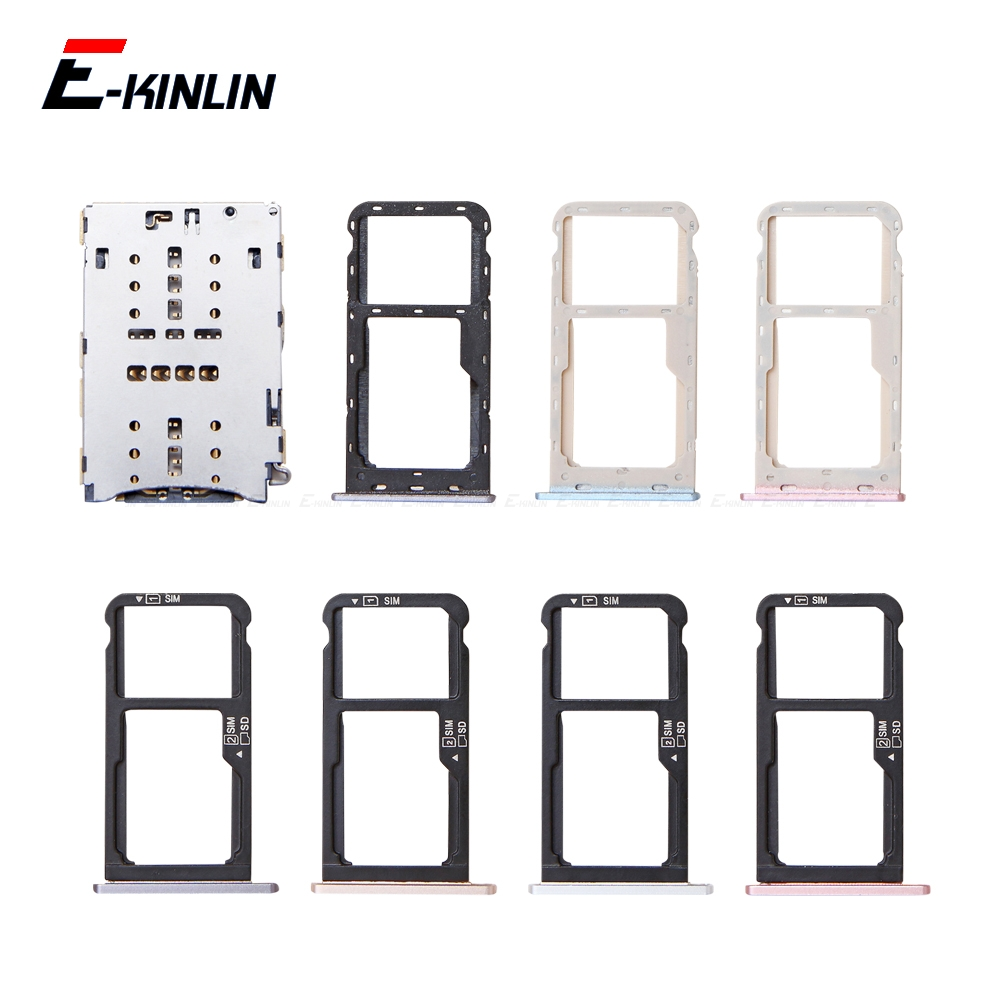 High Quality Micro SD / Sim Card Tray Socket Adapter For HuaWei Honor 6C 5C Pro Connector Holder Slot Reader Container