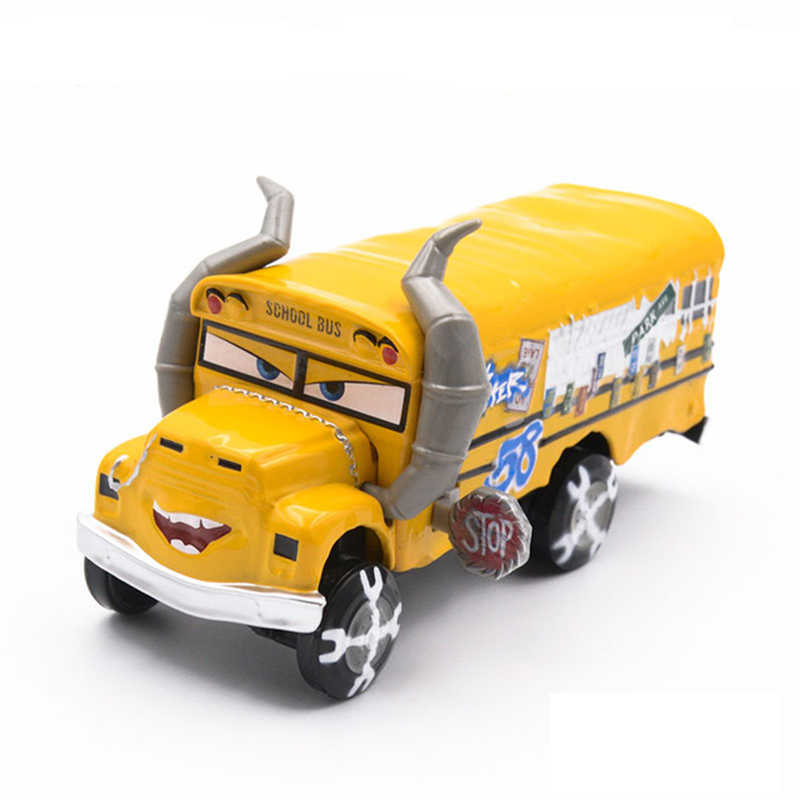 Disney Pixar Cars 3 Cars 2 Lightning McQueen Mack Uncle School Bus Truck Diecast 1:55 Modelo Toy Car Children's kids Gifts