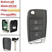 (1 قطعة) سيارة الوجه g البعيد مفتاح 434 ميجا هرتز مع ID48 رقاقة ل V W سكودا اوكتافيا A7 MQB جولف السابع Golf7 جولف MK7 2017 ليست الذكية