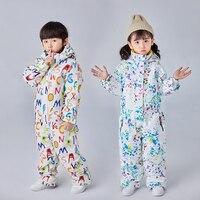 Dollplus Children Kids Ski Snowsuit Jumpsuit Snowboard Skiing Jacket Girl Boy Sportswear Winter Pants Set Suit Outfit Clothing