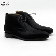 Men's Boot Shoe-Dress GOODYEAR WELTED Horse-Hair Classic Black Calf Gentlemen Plain Cie