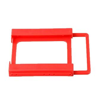 New 2.5 Inch To 3.5 Inch SSD HDD Plastics Red Hard Disk Drive Mounting Kit Adapter Bracket Dock For Desktop PC Notebook 2 5 to 3 5 inch plastic ssd bay laptop notebook external hard disk drive ssd hdd mounting rail adapter bracket holder dock bay