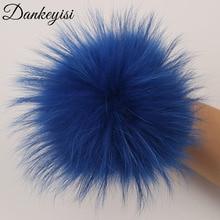 DANKEYISI ขายส่ง 100% จริง Pompoms 13 ซม.DIY Raccoon ฟ็อกซ์ขนสัตว์ Pom Poms ขนสัตว์ลูกหมวกผ้าพันคอรองเท้าอุปกรณ์เสริม 5 ชิ้น/ล็อต