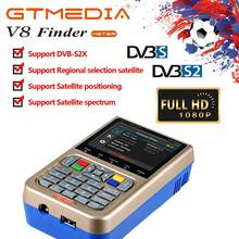 GT MEDIA V8 Satellite Finder Meter DVB-S/DVB-S2X Parabol Locator Finder Satellite FTA Satelliten Empfänger Digital TV HD 3,5