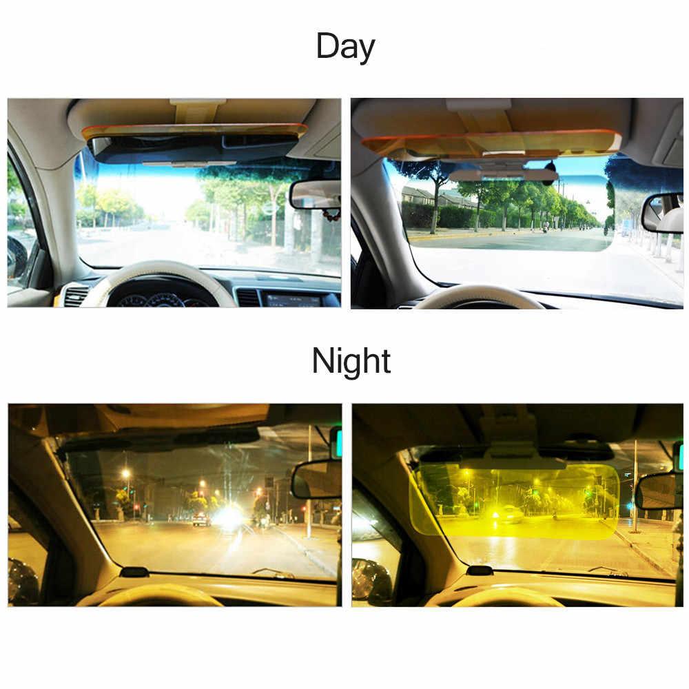 Mobil Sun Visor 2 In 1 Menyilaukan Goggle Hari Malam Visi Berjemur UV Blok Visor Anti-Dazzle Kerai Mengemudi cermin Jelas