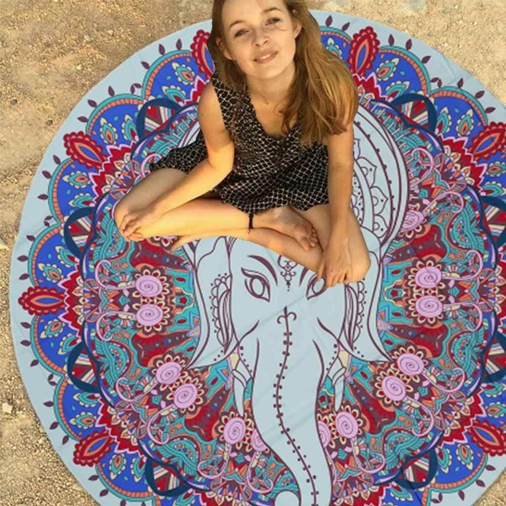 Hippie Mandala Round Tapestry Beach Throw Indian Yoga Mat Towel Blanket Picnic