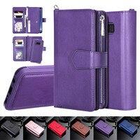 Funda magnética de cuero para móvil, carcasa magnética para Samsung S20 Ultra, S10, S9, S8 Plus, Note 20, 10, 9, 8, 11 Pro, XS, Max, XR, 8, 7