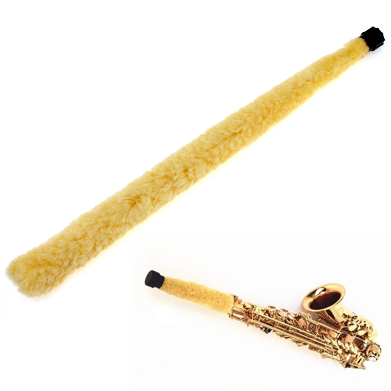 Durable Alto Saxophone Cleaner Yellow Soft Fiber Brush Alto Sax Cleaning Tools Woodwind Musical Instruments Parts & Accessories