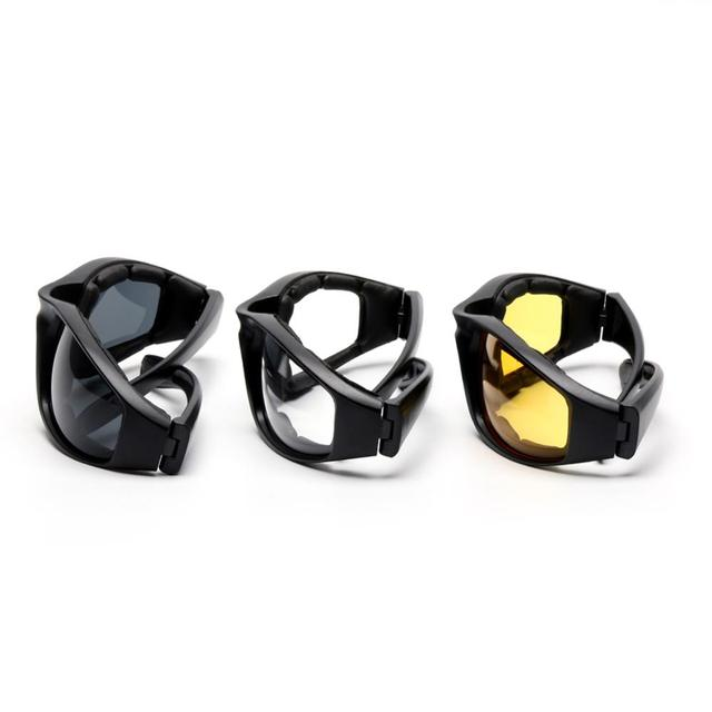 3 Pair Motorcycle Riding Glasses  3