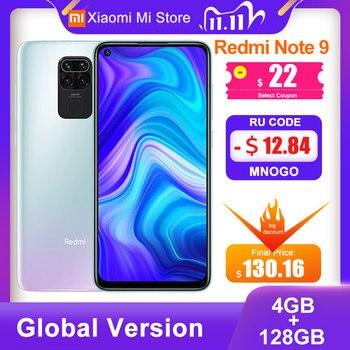 Global Version Xiaomi Redmi Note 9 4GB RAM 128GB ROM Smartphone MTK Helio G85 Octa Core 48MP Quad Rear Camera  5020mAh Cell