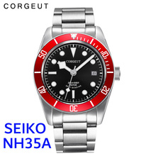Clock Corgeut-Watch Automatic Mechanical-Wristwatch NH35A Top-Brand Waterproof Full-Steel