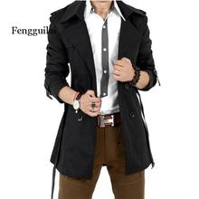 Trench Coat Men Autumn Spring Double Breasted Men Outerwear Casual Coat Men's Jackets